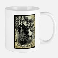 Victorian Halloween Bat Collage Mug