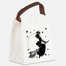 Old Fashioned Witch Canvas Lunch Bag