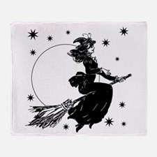 Old Fashioned Witch Throw Blanket