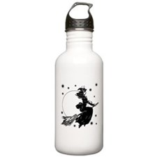 Old Fashioned Witch Sports Water Bottle
