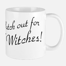 Retro Watch Out For Witches Mug