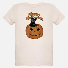 Vintage Halloween Cat In Pumpkin T-Shirt