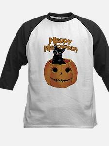 Vintage Halloween Cat In Pumpkin Tee