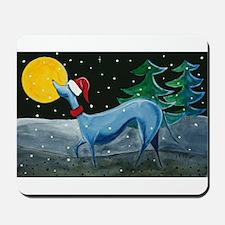 Christmas Italian Greyhound Mousepad