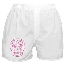 Pink Sugar Skull Boxer Shorts