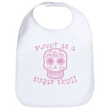 Sweet As A Sugar Skull Pink Bib