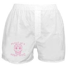 Sweet As A Sugar Skull Pink Boxer Shorts