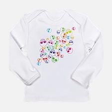 Jumble Of Sugar Skulls Long Sleeve Infant T-Shirt