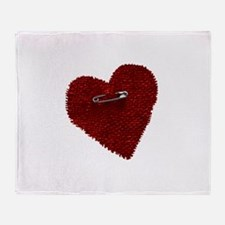Pinned On Heart Throw Blanket