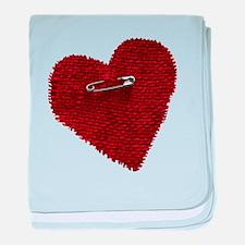 Pinned On Heart baby blanket
