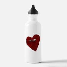 Pinned On Heart Water Bottle