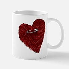 Pinned On Heart Mug