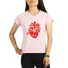 Human Heart Red Performance Dry T-Shirt