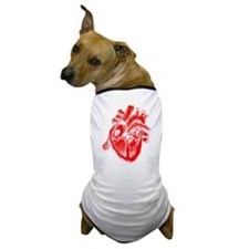 Human Heart Red Dog T-Shirt