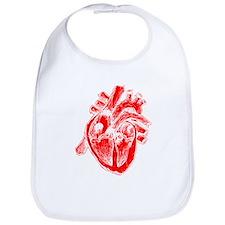 Human Heart Red Bib