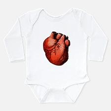 Human Heart Long Sleeve Infant Bodysuit
