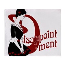 D For Disappointment Throw Blanket