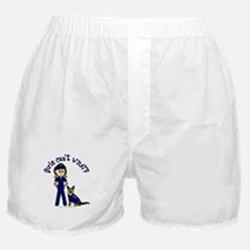 Light K-9 Police Boxer Shorts
