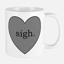 Grey Heart Sigh Mug