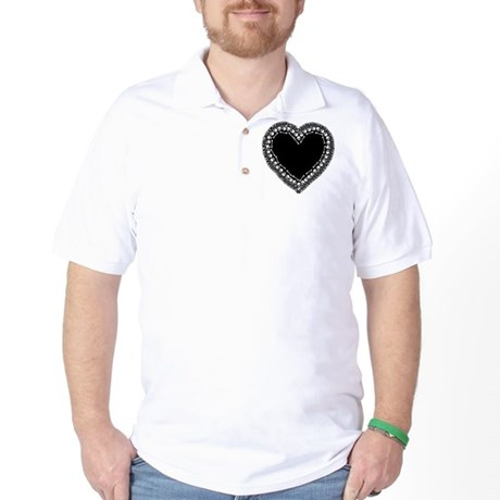 Pretty Skull Heart Golf Shirt
