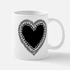 Pretty Skull Heart Mug