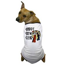 Retro Happy New Year Dog T-Shirt