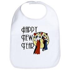 Retro Happy New Year Bib