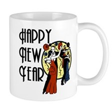 Retro Happy New Year Mug