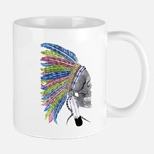 Colorful Native American Headdress Mug