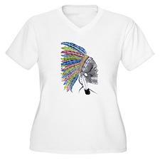 Colorful Native American Headdress T-Shirt