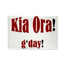 """Kia Ora! g'day!"" Rectangle Magnet"