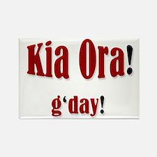 """""""Kia Ora! g'day!"""" Rectangle Magnet"""