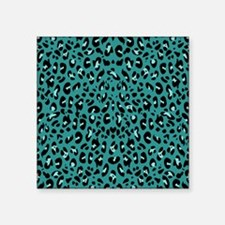 Teal Blue Leopard Print Pattern Sticker