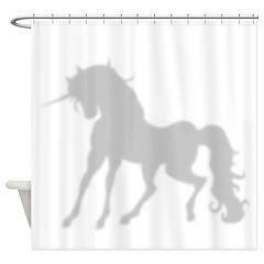 Shadow Silhouette Unicorn Shower Curtain