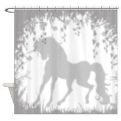 Unicorn In The Garden Shower Curtain