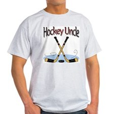 Hockey Uncle Ash Grey T-Shirt