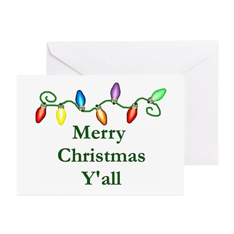 Merry Christmas Y'all Greeting Cards (Pk of 10