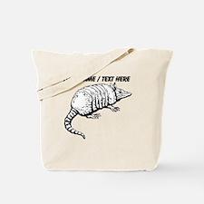 Custom Armadillo Sketch Tote Bag