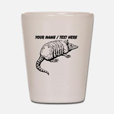Custom Armadillo Sketch Shot Glass
