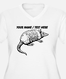 Custom Armadillo Sketch Plus Size T-Shirt