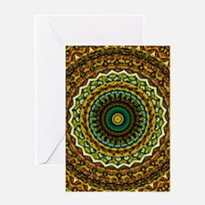 Eastern Promise Mandala Pattern Greeting Card