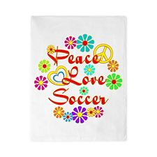 Peace Love Soccer Twin Duvet