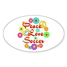 Peace Love Soccer Decal