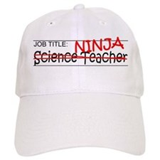 Job Ninja Science Teacher Baseball Cap