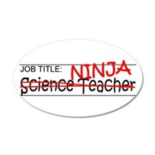 Job Ninja Science Teacher Wall Decal