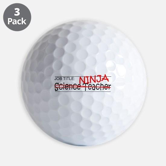 Job Ninja Science Teacher Golf Ball