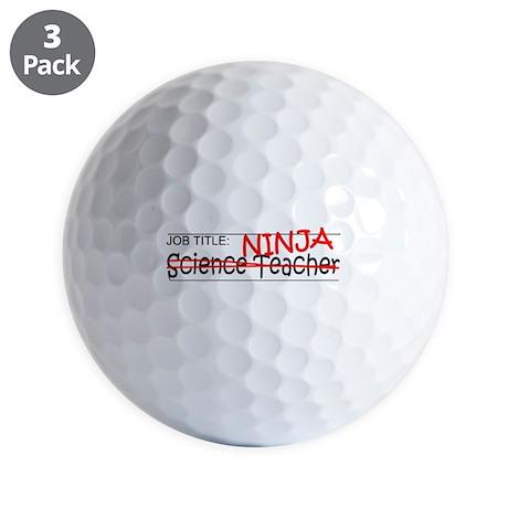 Job Ninja Science Teacher Golf Balls