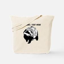 Custom Skunk Sketch Tote Bag