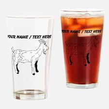Custom Goat Sketch Drinking Glass