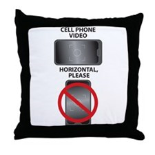 Cell Phone Video - Horizontal, Please Throw Pillow